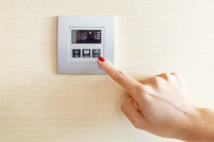 Image of central heating thermostat